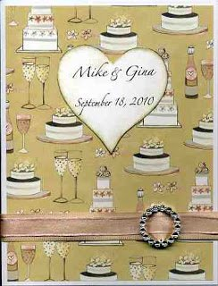 a beautiful gold and blush wedding congratulations card personalized with the couples name and wedding date.