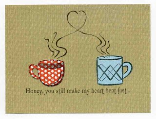 You'll get the jitters after reading this funny coffee inspired anniversary card for a husband or wife
