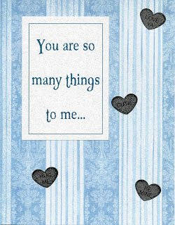 Romantic Husband Anniversary Card listing the many special things your husband is to you. .