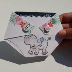 elephant baby shower gift card holder shower game prize