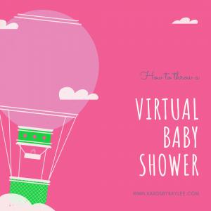 virtual baby shower ideas hot air balloon