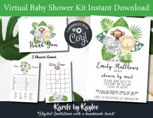Virtual Baby Shower kit includes everything you need including a step by step guide
