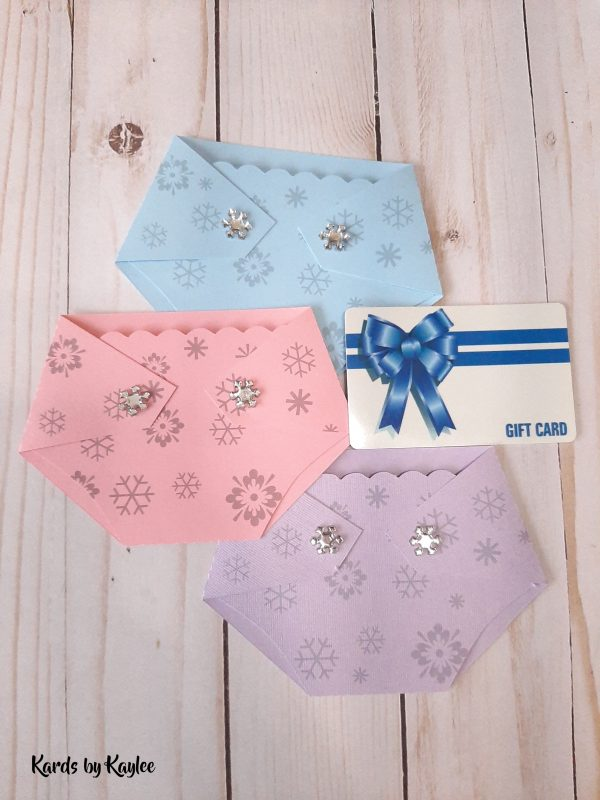 snowflake gift card holder winter baby shower game prize