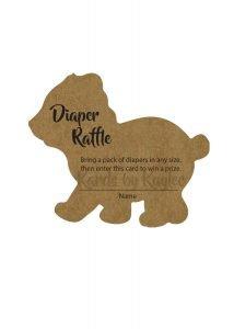 woodland bear diaper raffle