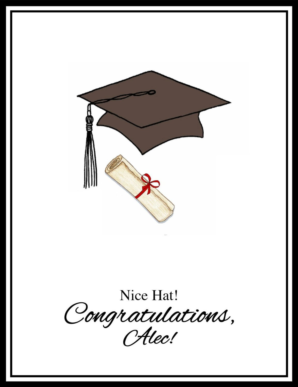 Gradution Card with Diploma