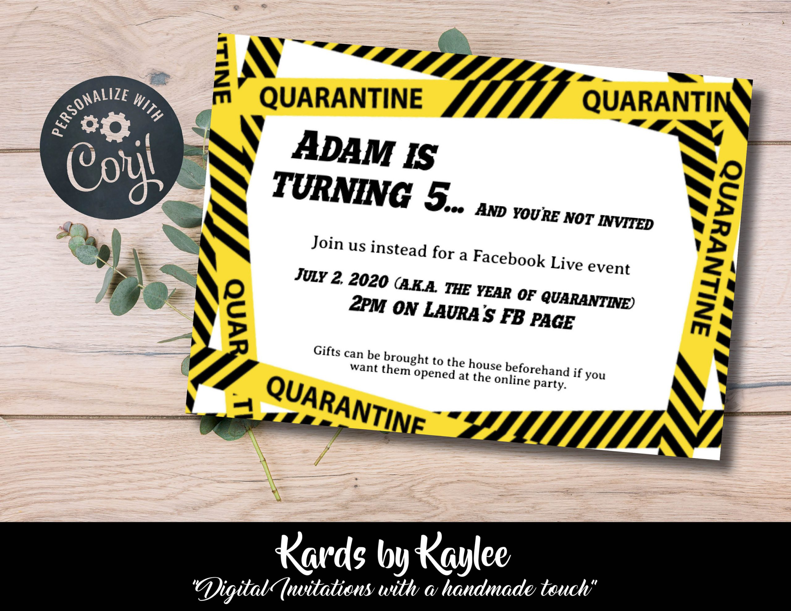 Quarantine Birthday Party Invitation - None of You Are Invited Instant  Download Template - Kards by Kaylee